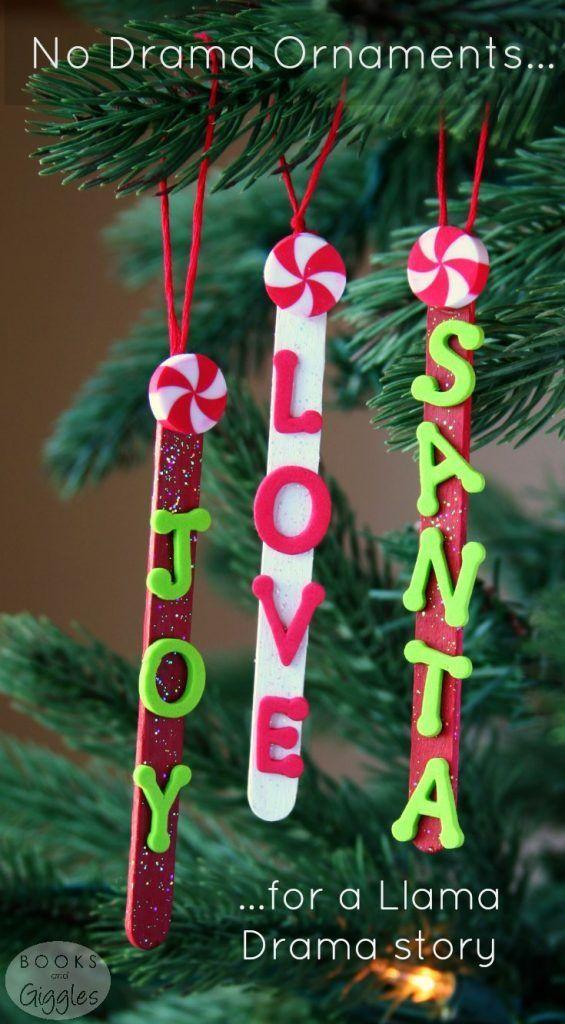 Popsicle Stick Ornaments For A Llama Drama Story Christmas Crafts Preschool Christmas Christmas Ornaments