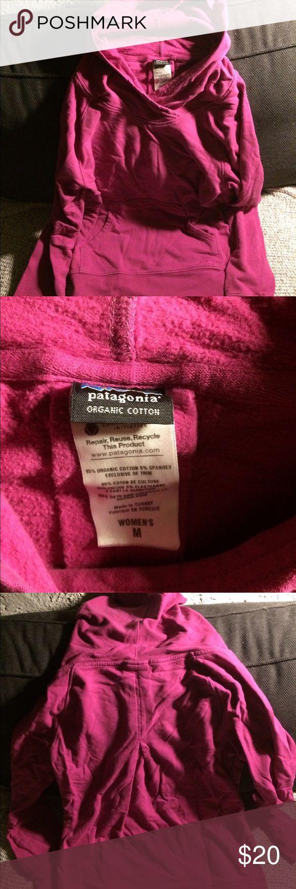Patagonia hoodie Fuchsia lightweight stretchy hoodie, size medium, minimal wear, no stains/rips etc. Patagonia Tops Sweatshirts & Hoodies
