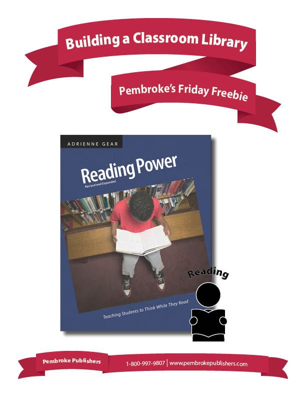 Good reading starts with great books. In her new book, Reading Power, Revised & Expanded Edition, Adrienne Gear has both great advice on how to start a winning classroom library, and a booklist that covers all the comprehension bases!