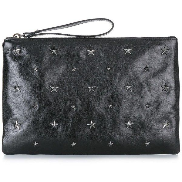 Red Valentino star studded clutch ($305) ❤ liked on Polyvore featuring bags, handbags, clutches, black, studded purse, studded handbags, red valentino handbags, star purse and red valentino