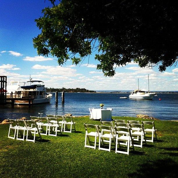 Garden Wedding Ceremony At Mosmans Restuarnt On The Swan River Mosman Park Perth