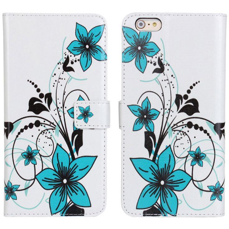 New Case - Apple iPhone 6 Blue Flowers Designer Printed Wallet Case, $16.95 (http://www.newcase.com.au/apple-iphone-6-blue-flowers-designer-printed-wallet-case/)