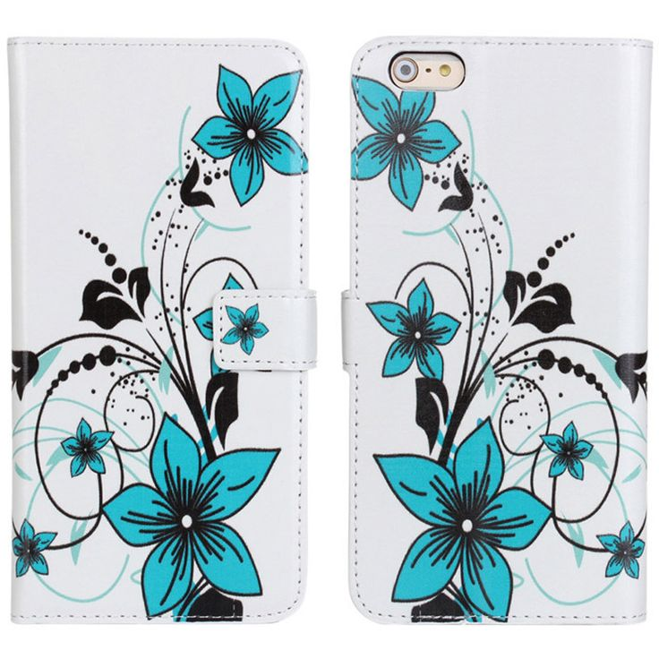 New Case - Apple iPhone 6 Blue Flowers Designer Printed Wallet Case, $16.95 (http://www.newcase.com.au/apple-iphone-6-blue-flowers-designer-printed-wallet-case/)