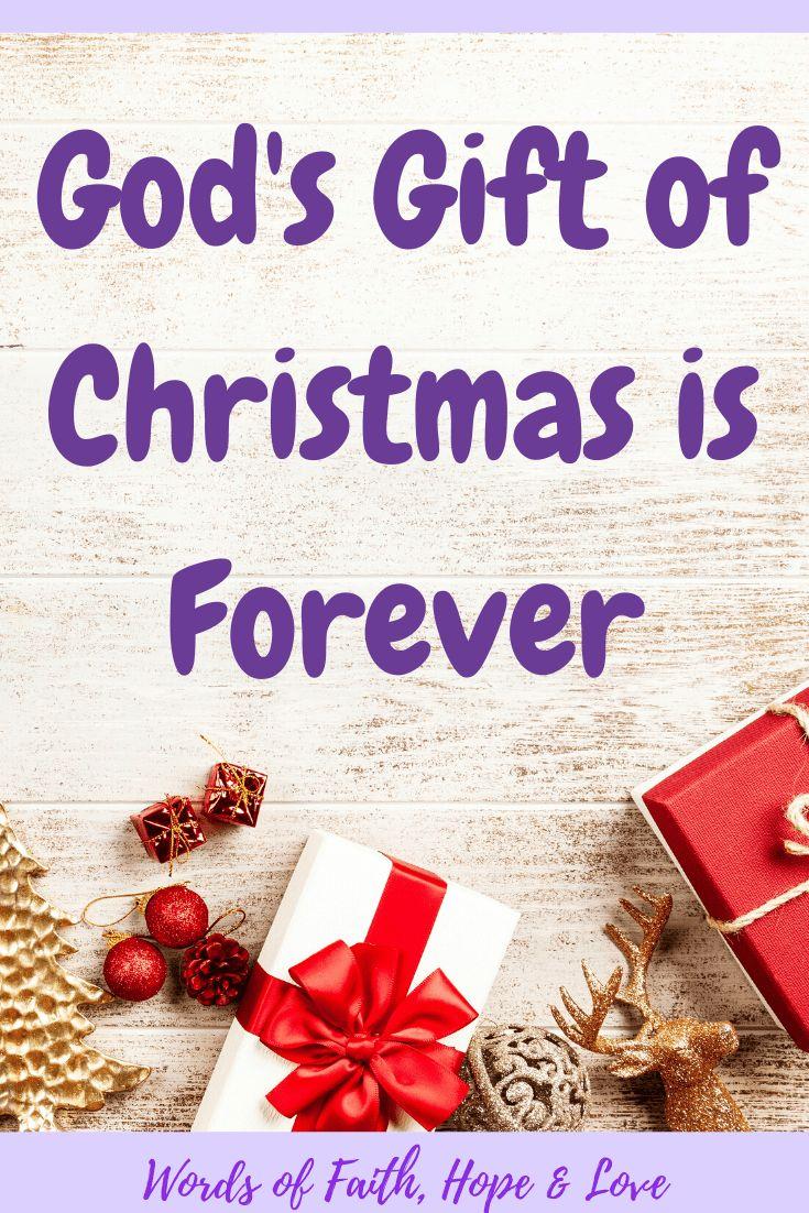 Christmas gods gift that keeps on giving word of faith