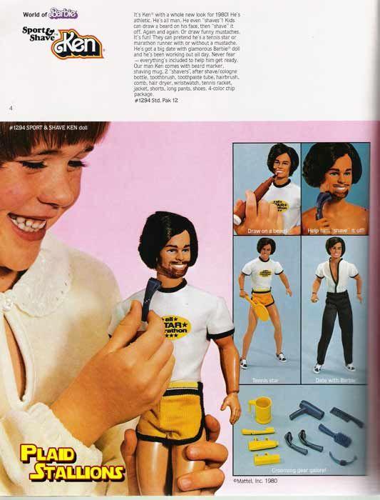 Who wears short shorts? Ken wears short shorts! (PS, you're not fooling anyone with the beard, Ken.)