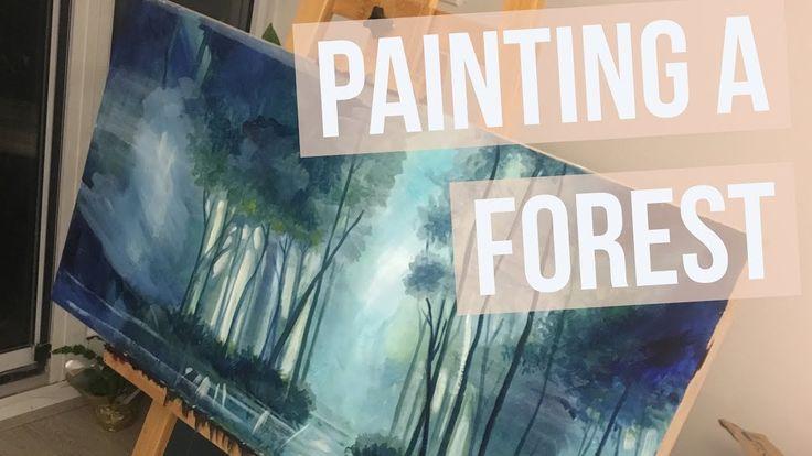 Time Lapse Painting a Forest Landscape (Part 1)