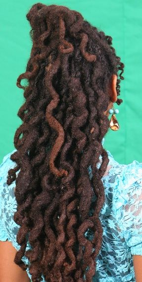 Photo Gallery | Wrap A Loc  Get natural looking curls with a revolutionary new hair styling tool and technique that creates a tight spiral curl on locked and natural hair. This amazing tool can be worn undetectable in the hair as a style and when removed, curls blossom. When the tool is removed, you find beautiful soft, long lasting curly locs. The locs stay curly for days or until the hair is shampooed. Check it out on wrapaloc.com #women #hair #locs #locnation #hair #longhair #beautiful