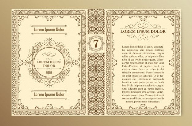 Vintage Book Cover Template Layouts And Design Book Cover Template Vintage Book Cover Cover Template