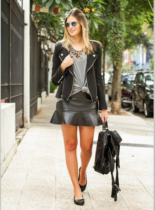 Coqueluxos: Que babado... | Fashion | Leather skirt, Leather fashion, Fashion