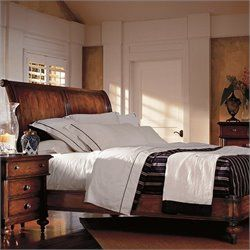 stanley furniture british colonial queen sleigh bed in caribe
