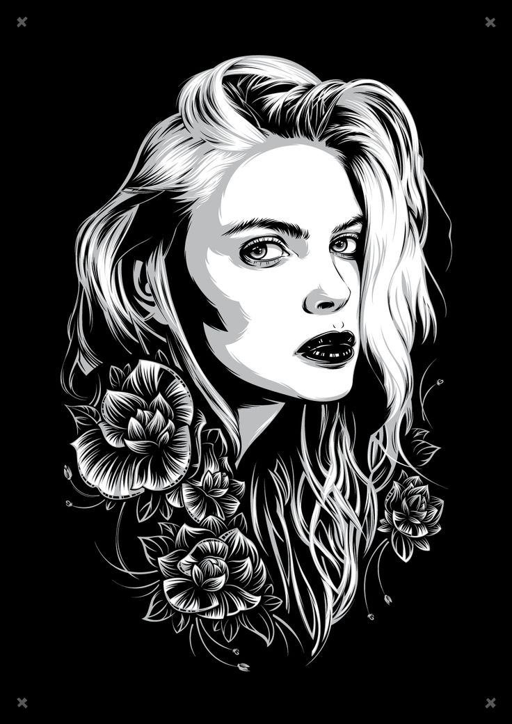 Porcelain on Behance vector art, vector portrait