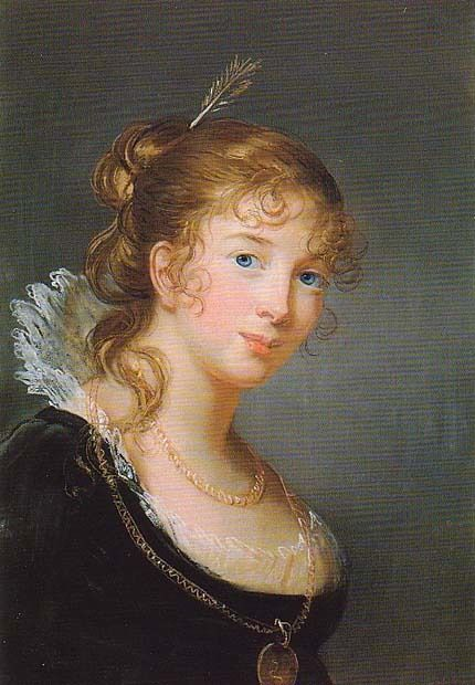 1801 Princess Louise Radziwill Hohenzollern by Élisabeth-Louise Vigee-Lebrun (location unknown to gogm) | Grand Ladies | gogm