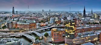 Ciutat d'Hamburg, on va viure després del seu pas per Londres.