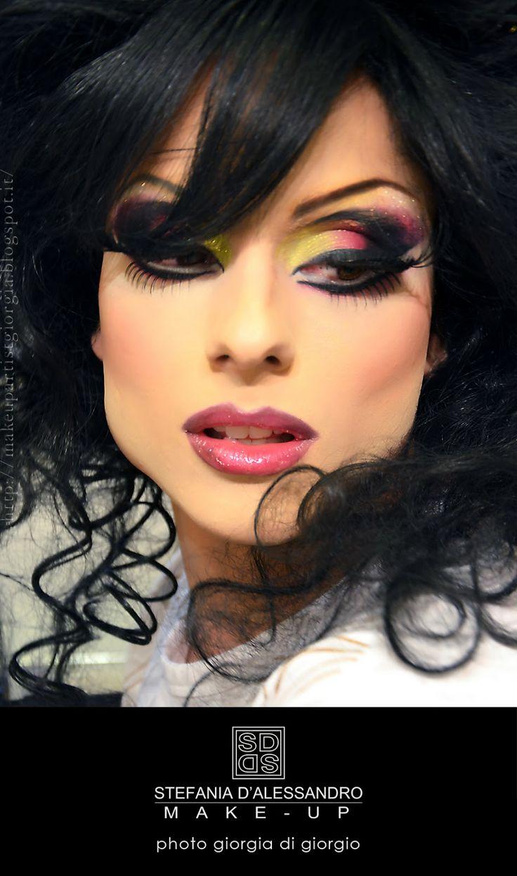FINAL STEPS - Workshop drag queen make-up by Stefania D'Alessandro - Photo Giorgia Di Giorgio
