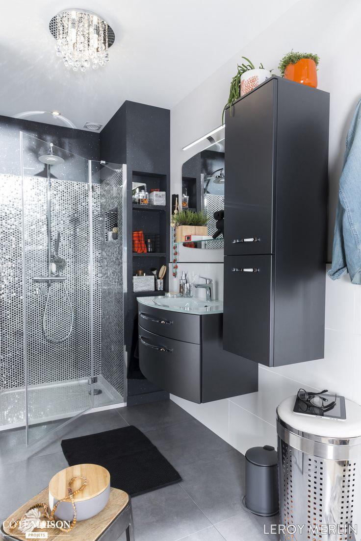 1000 id es sur le th me petites salles de bains gris sur pinterest salles d - Petite salle de bain leroy merlin ...
