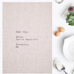 Dear You | 100% Linen tea towel