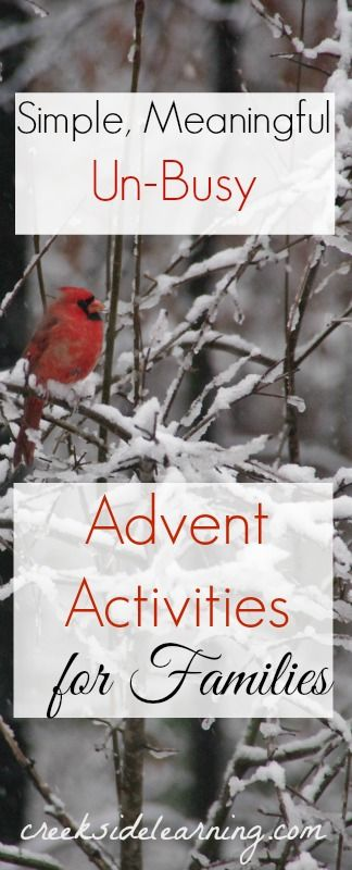Advent calendar activities for kids and families that bring simple, meaningful, un-busy joy to the season.