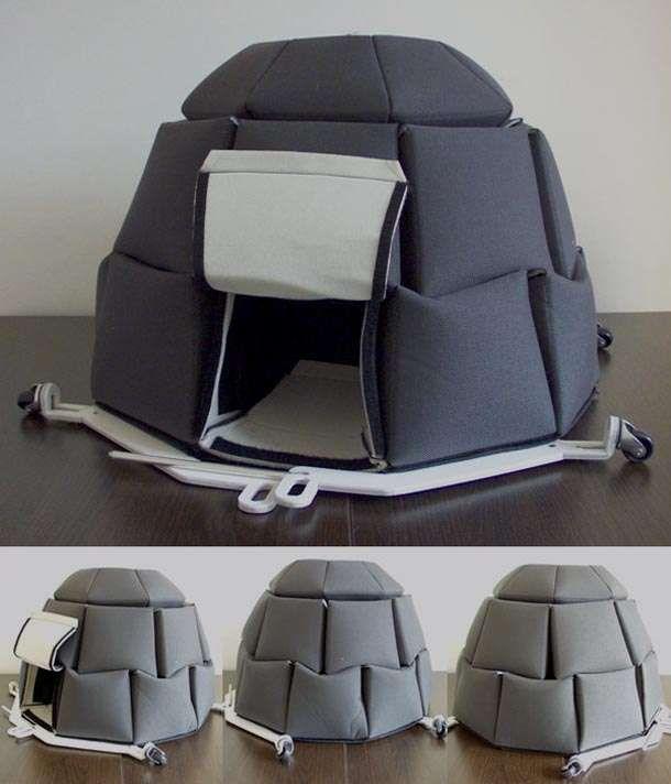 Sturdy Refugee Residences : NIDO Portable Shelter