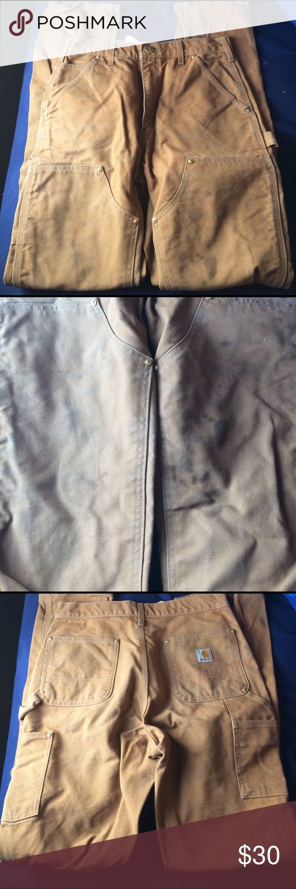 Carhartt work pants Carhartt work pants small stains pictured 30x34l. Make offer/bundle or both all considered Carhartt Jeans Straight Leg