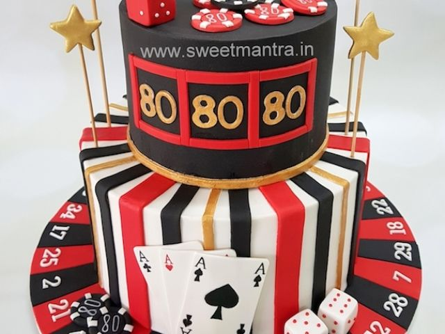 Strange Las Vegas Casino Theme Customized Cake For Grandpas 80Th Funny Birthday Cards Online Inifofree Goldxyz