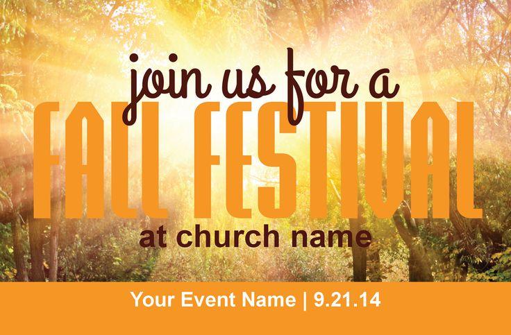 Fall Festival Postcard Invitation | Church Marketing | Christian Fall Festival