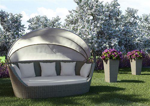 PORTOFINO pohovka z umelého ratanu piesková - záhrada