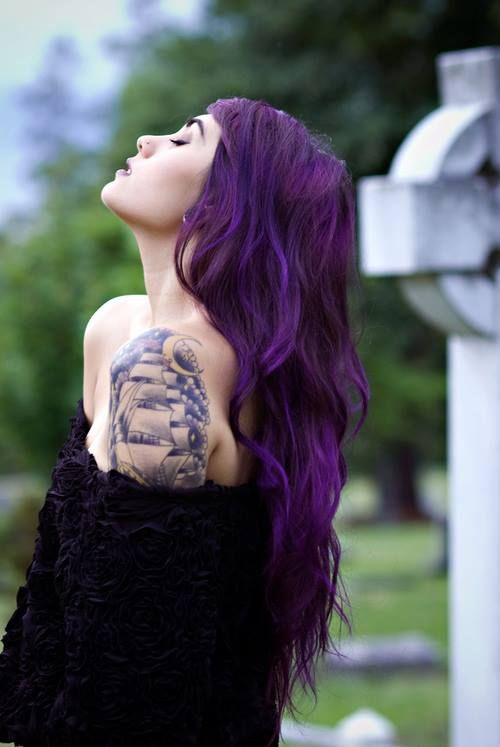 top 25 ideas about mermaid ombre blue green purple hair on. Black Bedroom Furniture Sets. Home Design Ideas
