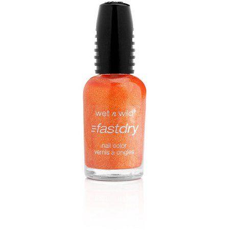 Wet n Wild Fast Dry Nail Color, 9.0.2.1 Orange, 0.46 fl oz