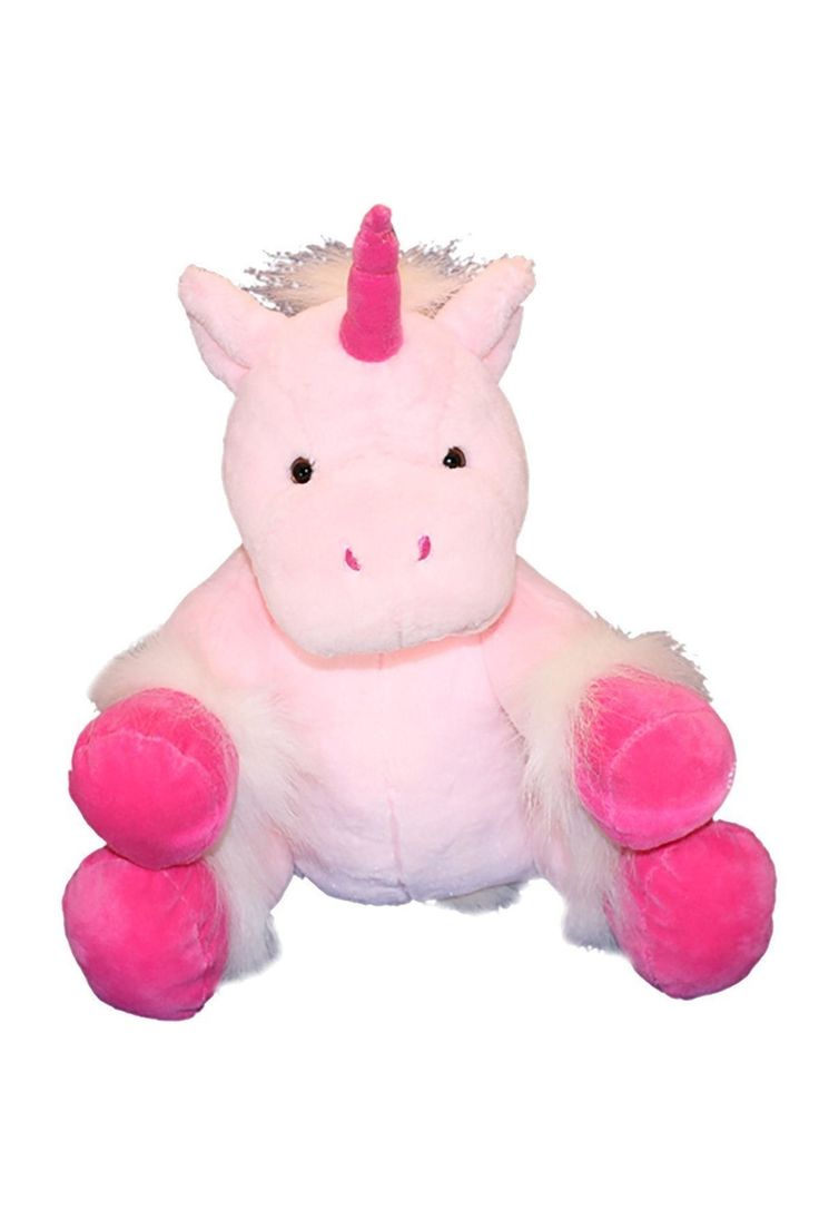 """I want to be your new best friend!    Cuddly soft pink plush, with bright pink, sparkly horn and feet, white, 'hairy' mane, tail and hoof accents and brown button eyes. I'm ready for every magical adventure!    I am approximately 16"""" (40 cm) and can fit most clothes from Build a Bear, Teddy Mountain, The Bear Factory and more. I will be custom stuffed just for you!!    We use only Premium Polyester fiberfill stuffing to fill our animals. It is light-weight, cuddly soft and 100% pure and…"""