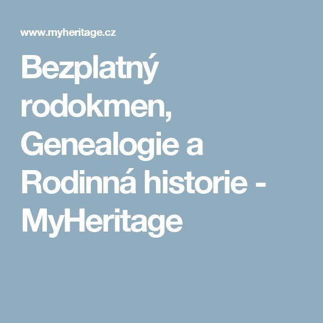Bezplatný rodokmen, Genealogie a Rodinná historie - MyHeritage