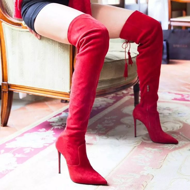 Long red high