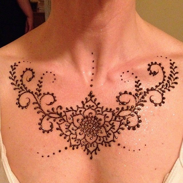 20 Henna On Chest Tattoos Names Ideas And Designs