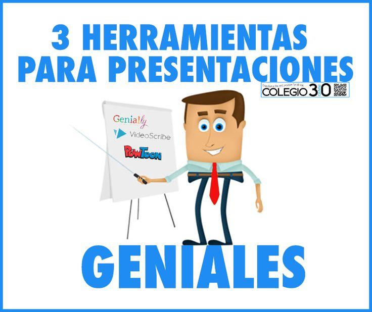 3 Herramientas para hacer impresionantes presentaciones. (Genially, PowToon y VideoScribe)