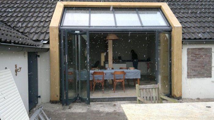betonlook wand met stalen pui - Google zoeken