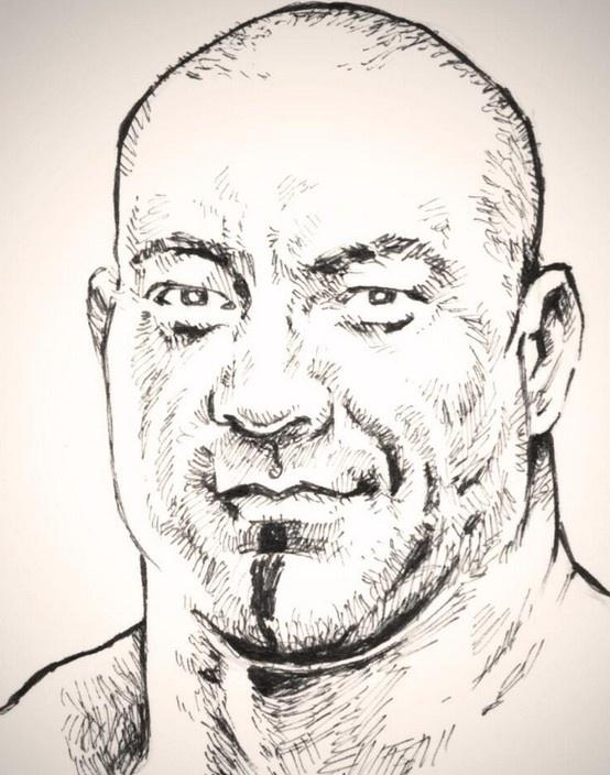 Batista by Darius Coleman #WWE