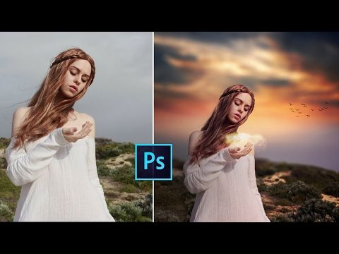 Photoshop CC Tutorial - Fantasy Sunset Color Effects | Photoshop Tutorial - YouTube