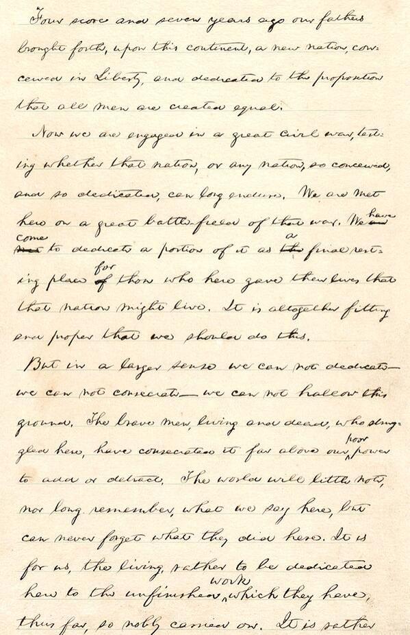 abraham lincoln gettysburg address gettysburg  abraham lincoln s gettysburg address delivered on 19 1863