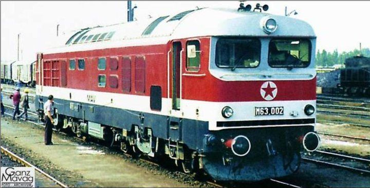 1976 Kiskunhalas, Hungary The most beautiful diesel locomotive. Ganz M63 Engine: 2700 HP, V18; layout Co,Co The maximum speed is 160 km / h
