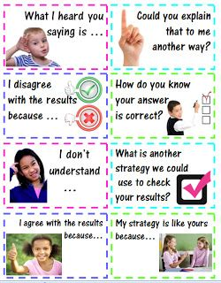 Accountable Math Talk Stems for Students - Statements and Questions #accountabletalk #math