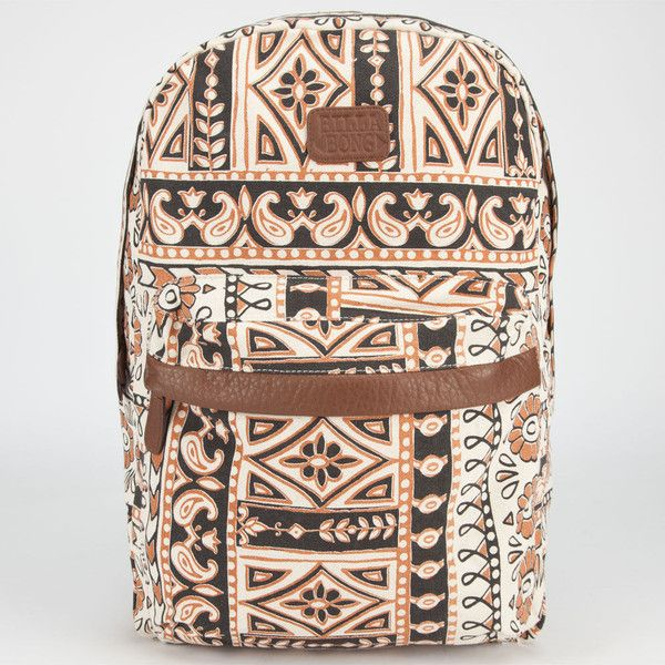 Billabong Dalai Mama Backpack ($48) ❤ liked on Polyvore featuring bags, backpacks, mochilas, black combo, billabong, boho bag, shoulder strap bag, padded bag and billabong bag