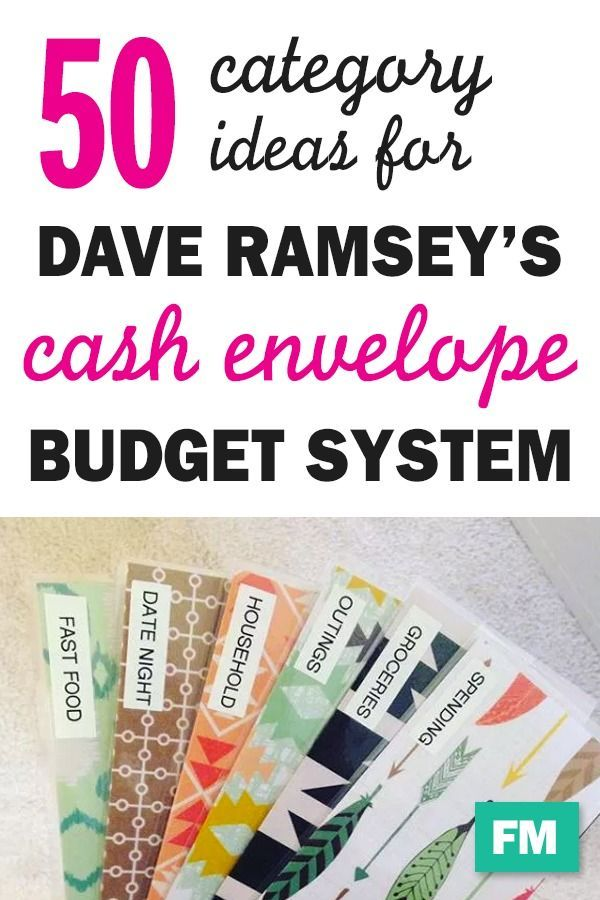 50 Cash Envelope Category Ideas I started using th…