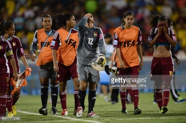 Dejection for Franyely Rodriguez of Venezuela during the FIFA U17 Women's World Cup Semi Final match between Venezuela and Japan at Edgardo Baltodano...
