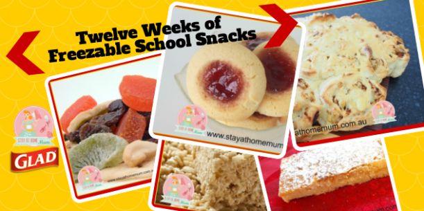 Twelve Weeks of Freezable School Snacks   Stay at Home Mum