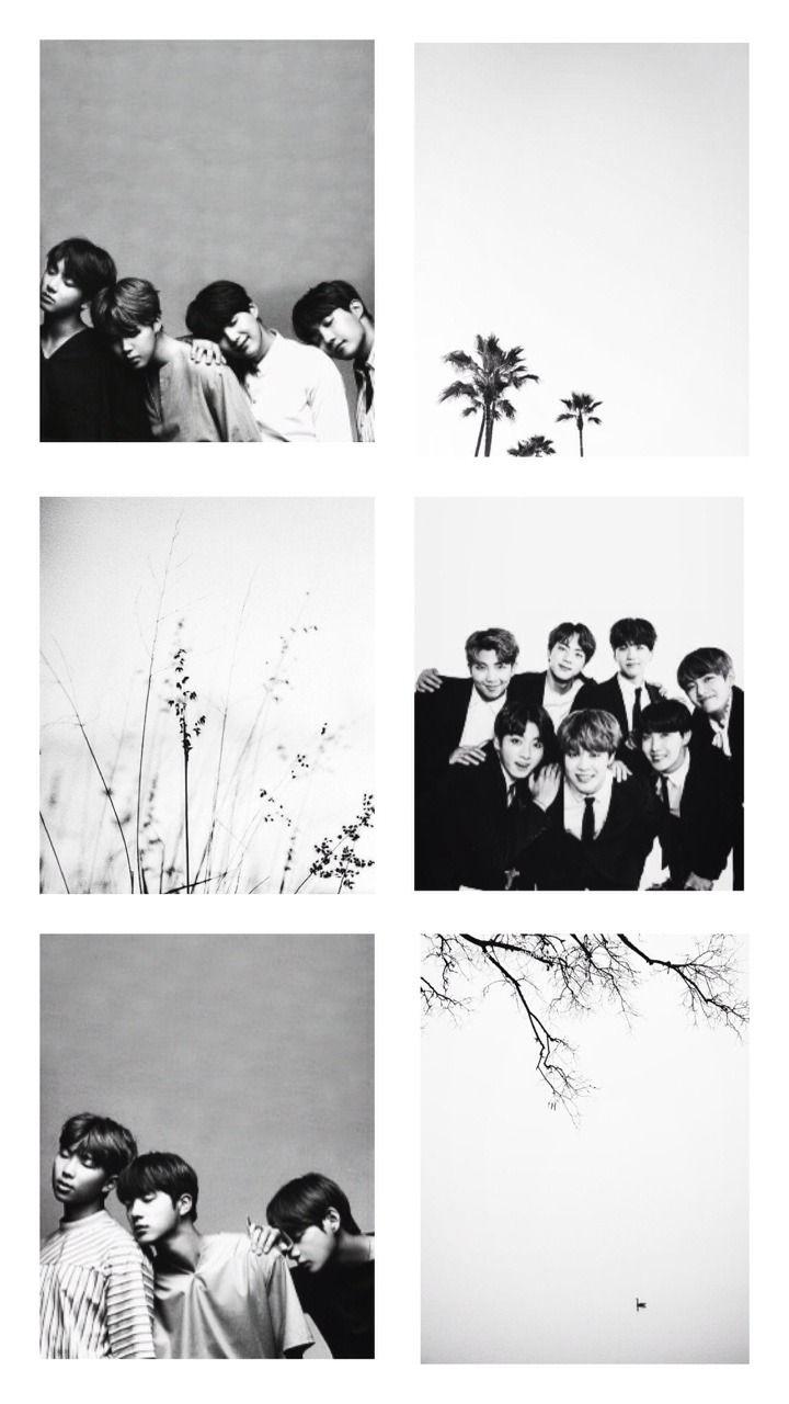 Bts Black And White Bts Aesthetic Wallpaper For Phone Bts Black And White Bts Wallpaper