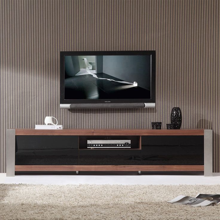 B Modern Coordinator 79 Inch Contemporary TV Stand Light Walnut Stainless  Steel. 43 best TV Stands by B Modern Furniture images on Pinterest