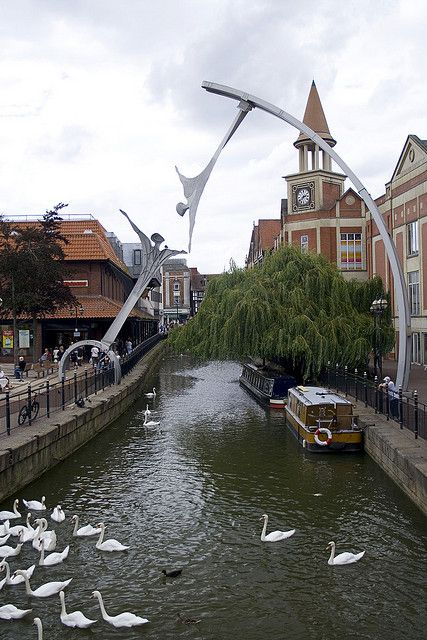 Angels over the Witham River - Lincoln, England