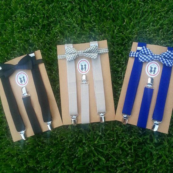Boys Bow Tie and Suspenders SET! Beige, Blue, and Black, wedding bow tie suspenders set, page boy outfit, vintage, ring bearer outfit