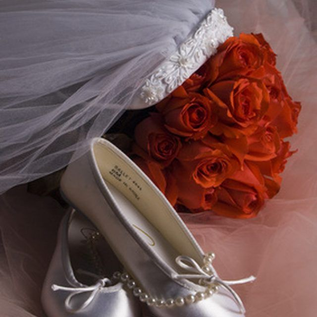 Gentle spot cleaning is the best way to keep your wedding shoes looking beautiful.