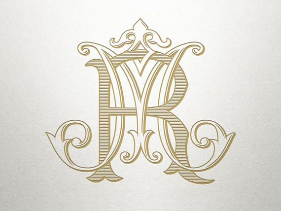 Vintage Wedding Monogram Mr Rm Wedding Monogram Digital Wedding Logo Monogram Monogram Monogram Tattoo