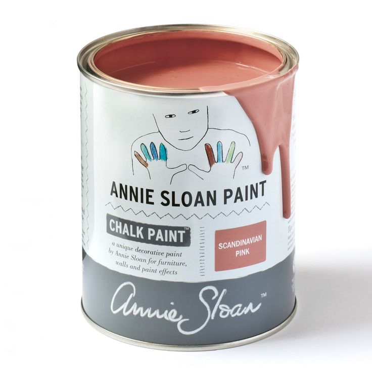 Chalk Paint® by Annie Sloan tin in Scandinavian Pink, a traditional Swedish-style dusky pink. Annie Sloan first developed her signature range of furniture paint in 1990, calling it 'Chalk Paint' because of this decorative paint's velvety, matte finish.